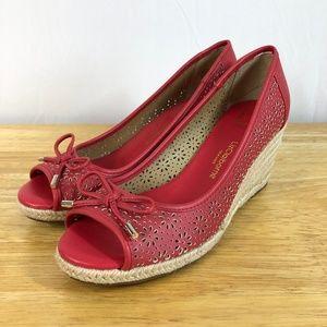LIZ CLAIBORNE Wedge Sandals 8.5M Espadrille Heels